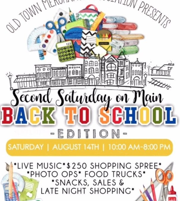 2nd Saturday Back to School Edition